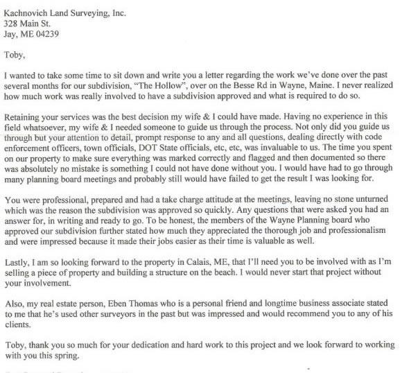 professional land surveyor cover letter